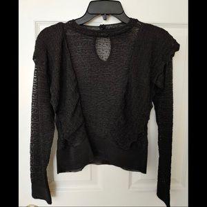 Zara Black Knit Blouse